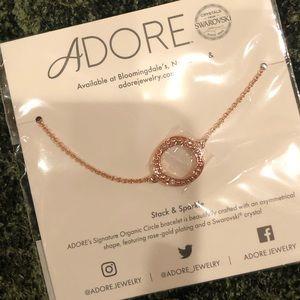 Adore Rose Gold/Swarovski Organic Bracelet